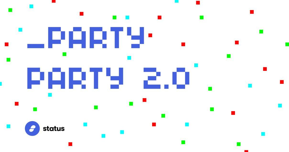 Join Status for a Virtual PartyParty Saturday March 14th!