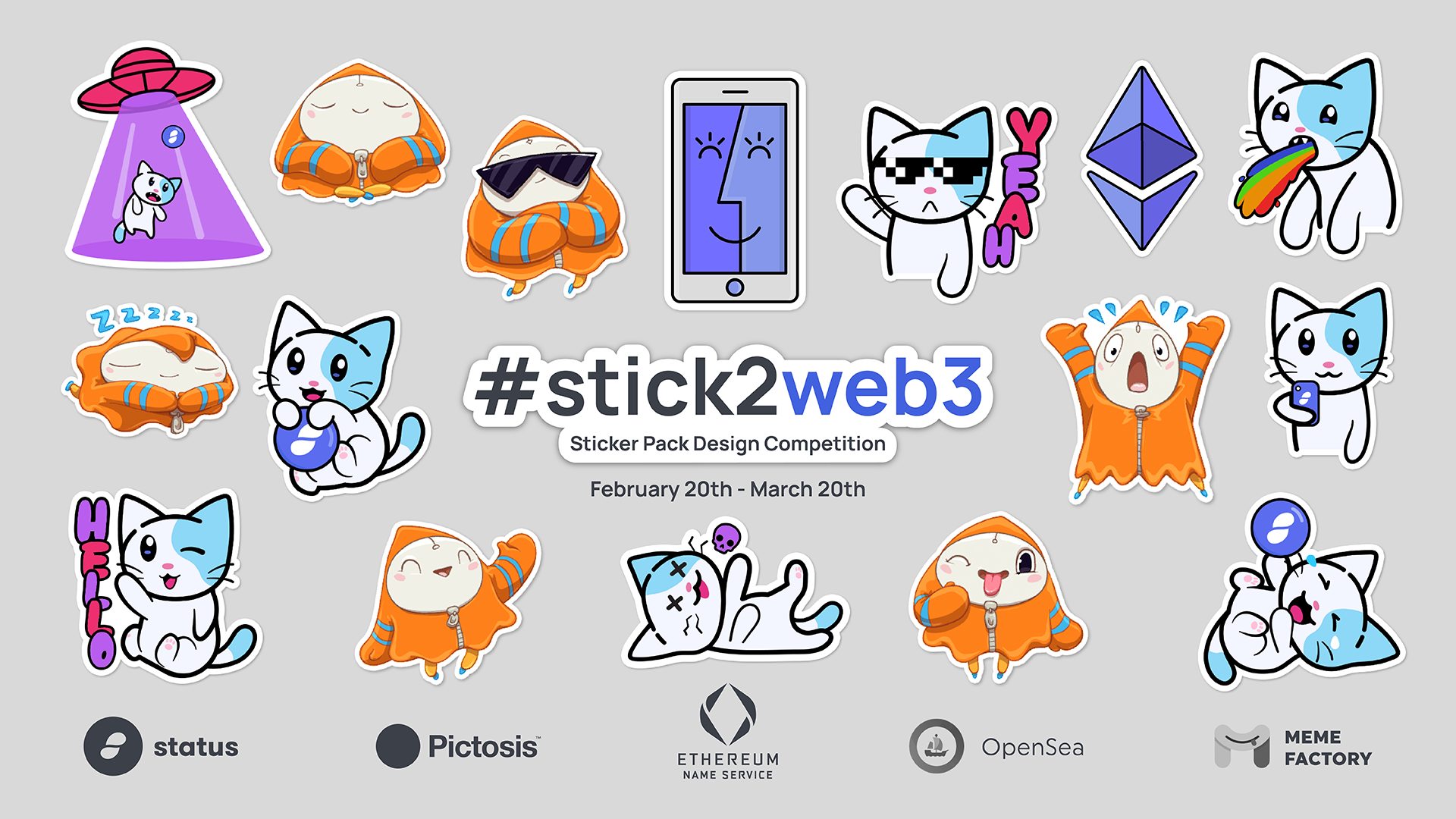 #stick2web3 Sticker Design Competition - Top 10 and Voting Begins