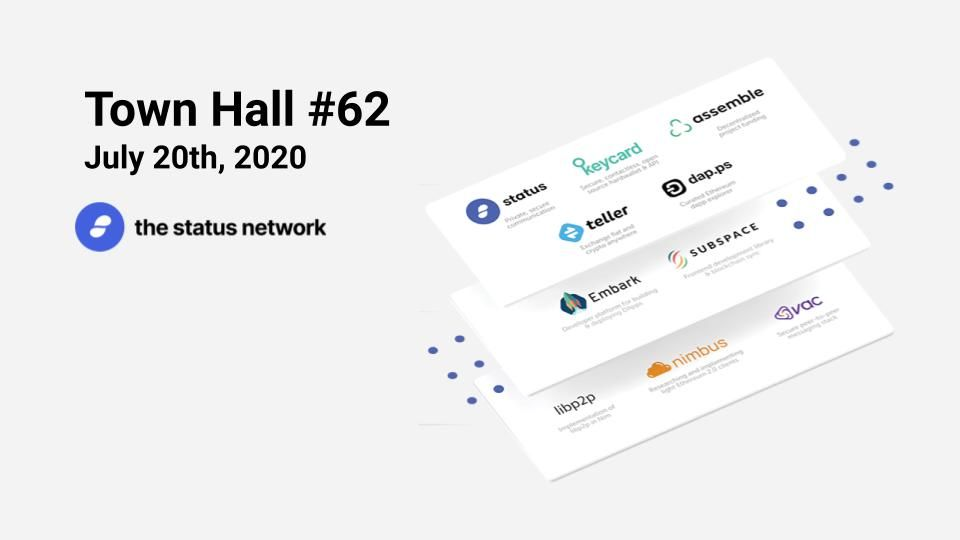 Town Hall #62 - July 20, 2020