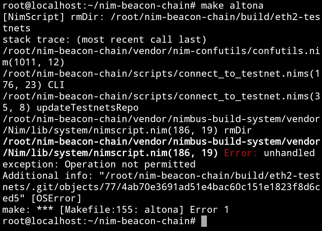 testnet-error