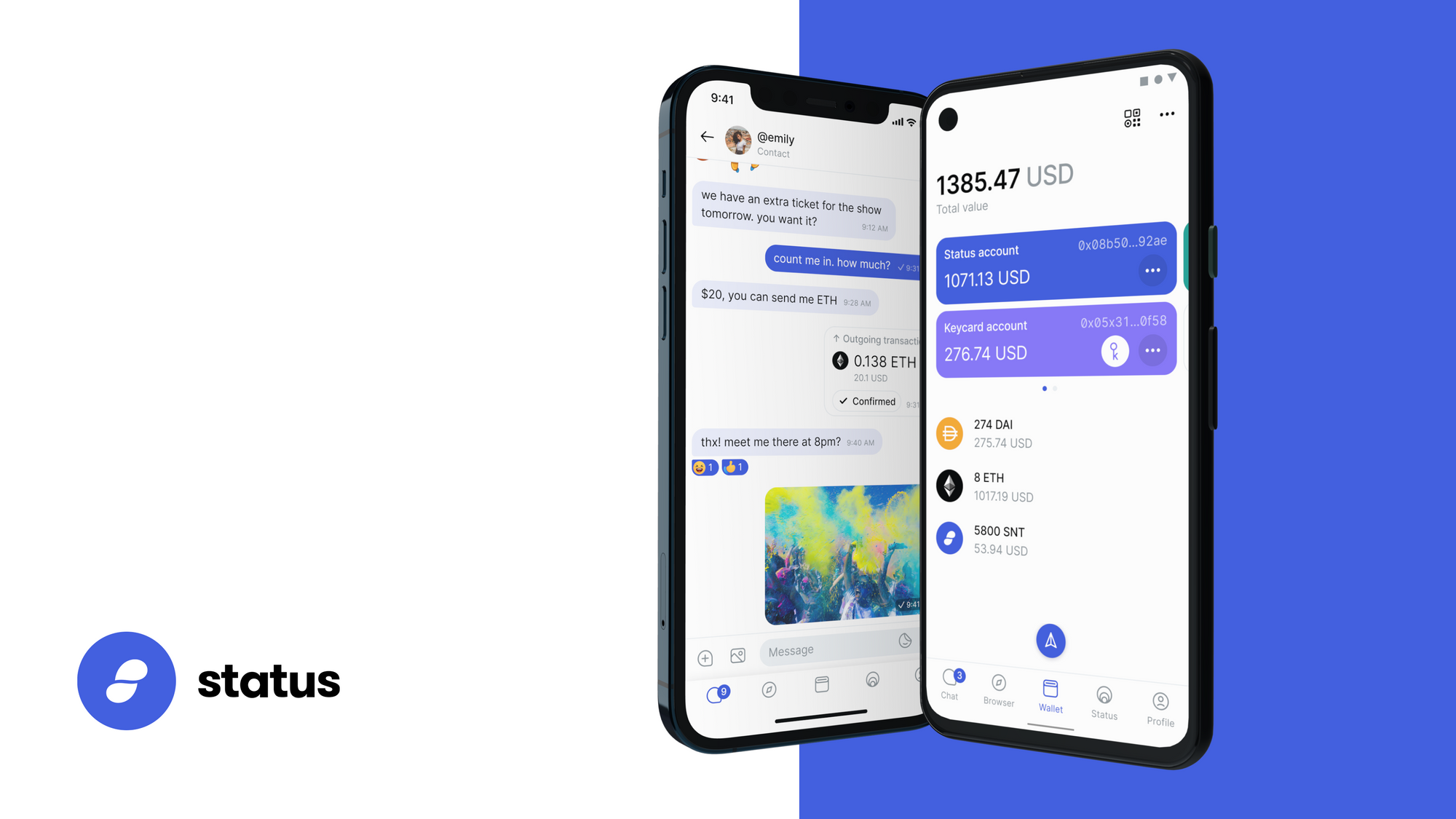 Status - The secure messaging app of the future
