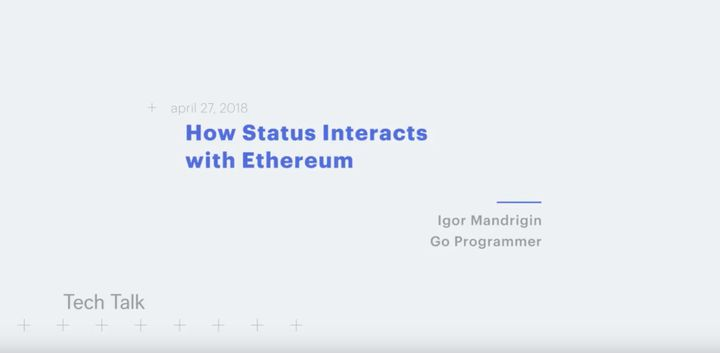 Igor Mandrigin demos status-go ethereum interaction
