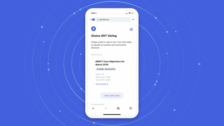 SNT Community Voting DApp