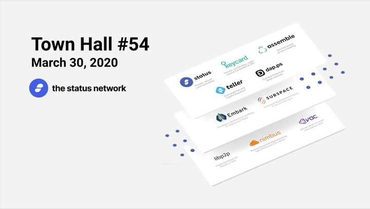 Town Hall #54 - March 30, 2020