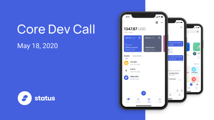 Status Core Dev Call #30 - May 18, 2020