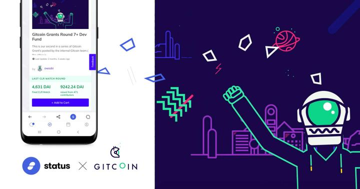 Status x Gitcoin: Grants On The Go