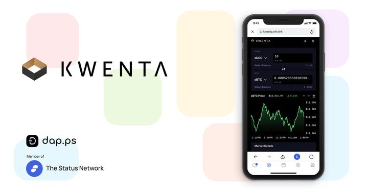 Kwenta - powered by the Synthetix Protocol - is live in Dap.ps