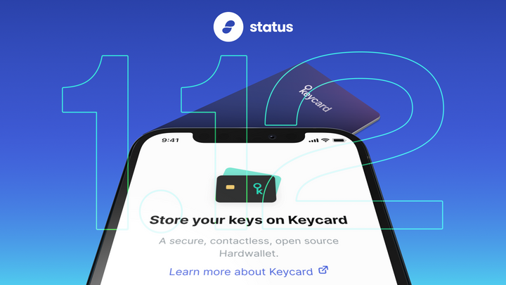 V1.12 Release - Keycard on iOS, Crypto Onramps, and More